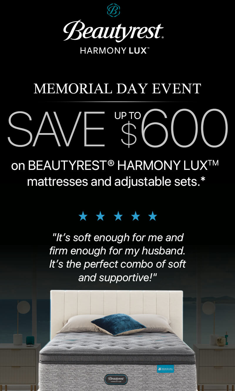 Beautyrest Harmony Lux Memorial Day Event